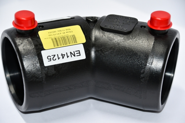 Połączenie elektrozgrzewalne kolano 45o PE100 Ø 50 mm